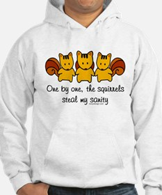 One by one, the squirrels Hoodie