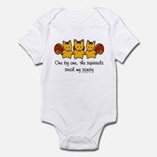 One by one, the squirrels Infant Bodysuit