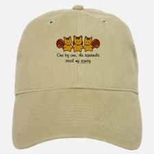 One by one, the squirrels Baseball Baseball Cap