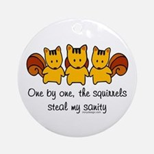 One by one, the squirrels Ornament (Round)