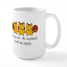 One by one, the squirrels Mug