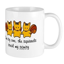 One by one, the squirrels Mug