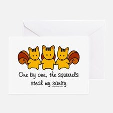 One by one, the squirrels Greeting Cards (Pk of 10