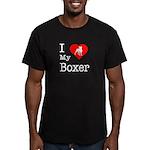 I Love My Boxer Men's Fitted T-Shirt (dark)