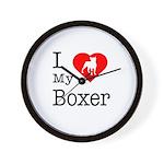 I Love My Boxer Wall Clock