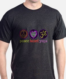 PEACE HEART YOGA T-Shirt