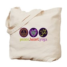 PEACE HEART YOGA Tote Bag