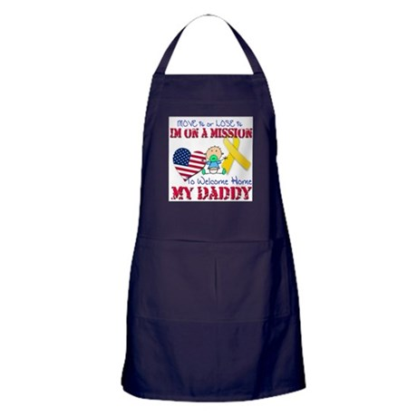 Welcome Home Daddy Baby Apron (dark)