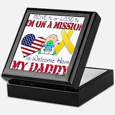 Welcome Home Daddy Baby Keepsake Box