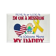Welcome Home Daddy Baby Rectangle Magnet