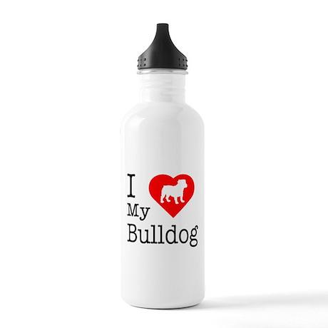I Love My Bulldog Stainless Water Bottle 1.0L