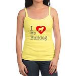 I Love My Bulldog Jr. Spaghetti Tank