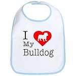 I Love My Bulldog Bib
