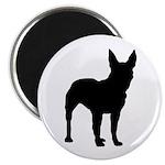 Bull Terrier Silhouette Magnet