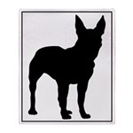Bull Terrier Silhouette Throw Blanket
