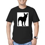 Bull Terrier Silhouette Men's Fitted T-Shirt (dark