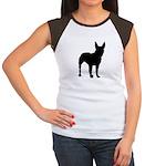 Bull Terrier Silhouette Women's Cap Sleeve T-Shirt