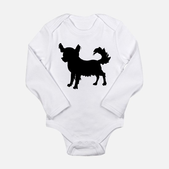 Chihuahua Silhouette Long Sleeve Infant Bodysuit