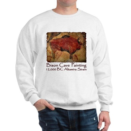 Bison Cave Painting Petroglyph Sweatshirt