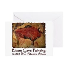 Bison Cave Painting Petroglyph Greeting Card