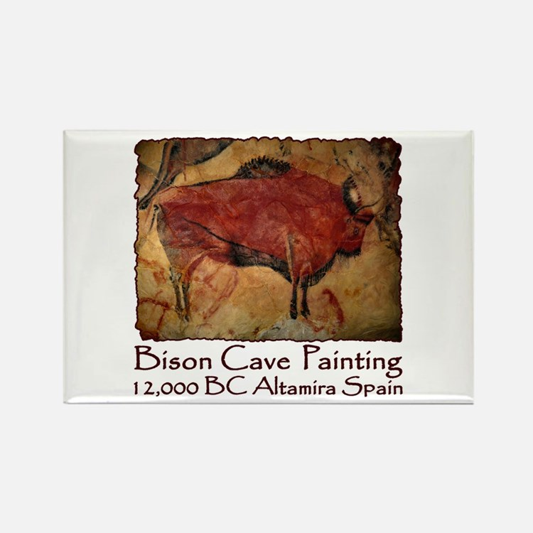 Bison Cave Painting Petroglyph Rectangle Magnet