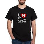I Love My Chow Chow Dark T-Shirt