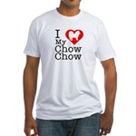 I Love My Chow Chow Fitted T-Shirt