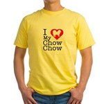 I Love My Chow Chow Yellow T-Shirt