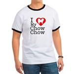 I Love My Chow Chow Ringer T