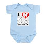 I Love My Chow Chow Infant Bodysuit