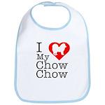 I Love My Chow Chow Bib