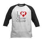 I Love My Chow Chow Kids Baseball Jersey