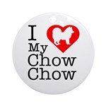 I Love My Chow Chow Ornament (Round)