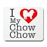 I Love My Chow Chow Mousepad
