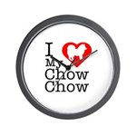 I Love My Chow Chow Wall Clock