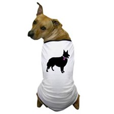 Collie Breast Cancer Support Dog T-Shirt