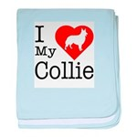 I Love My Collie Infant Blanket