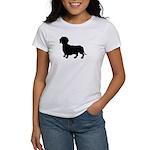 Dachshund Silhouette Women's T-Shirt