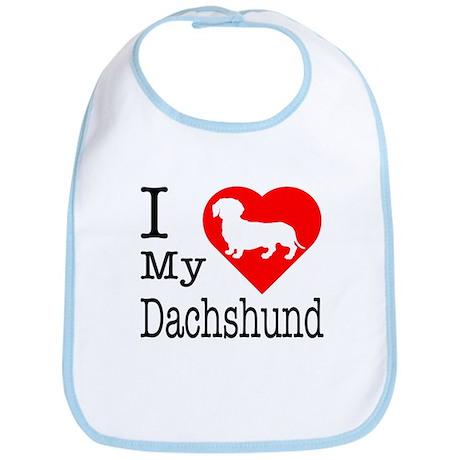 I Love My Dachshund Bib