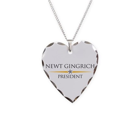 Newt Gingrich Necklace Heart Charm