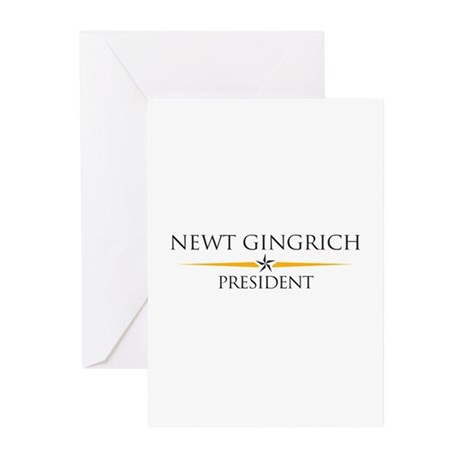 Newt Gingrich Greeting Cards (Pk of 10)