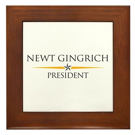 Newt Gingrich Framed Tile