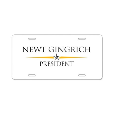 Newt Gingrich Aluminum License Plate