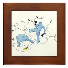 Capoeira Game Blue Framed Tile