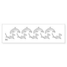 Shark & Dolphin Bumper Bumper Sticker
