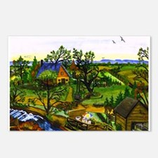 Farm Scene Collectable Postcards (Package of 8)