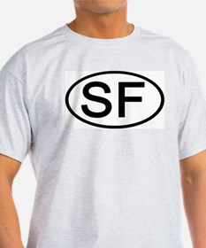 SF - Initial Oval Ash Grey T-Shirt