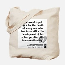 Nightingale Gifts Quote Tote Bag