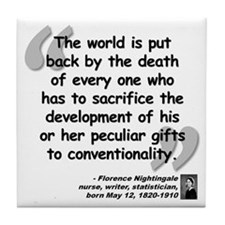 Nightingale Gifts Quote Tile Coaster