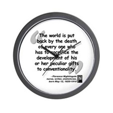 Nightingale Gifts Quote Wall Clock